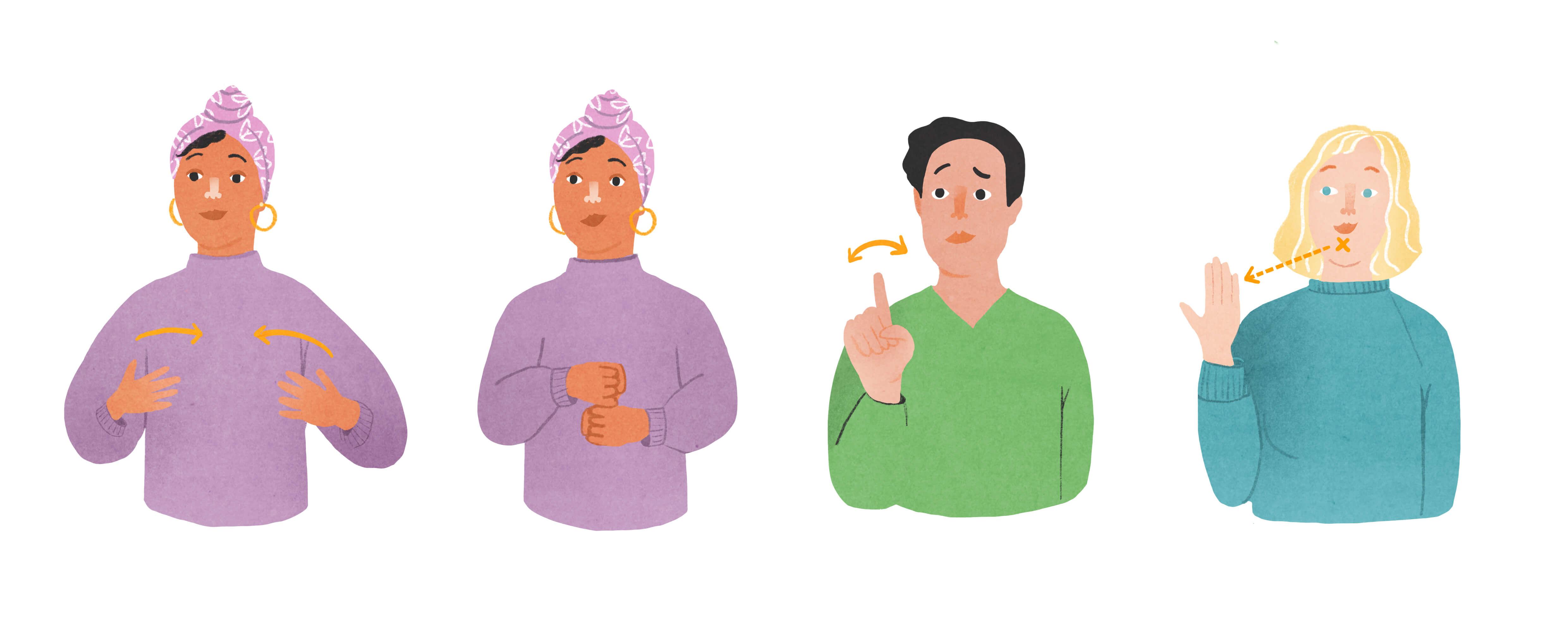 drie woorden in gebarentaal